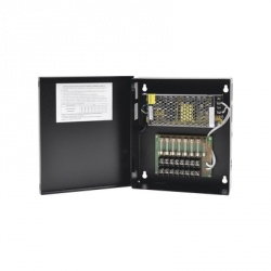 Epcom Fuente de Poder para Cámara, 8 Canales, Entrada 100 - 240V, Salida 11.4 - 13.2V, 5A, Fusibles Administrables