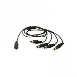 Epcom Cable 5.5/2.1mm Hembra - 4x 4x 5.5/2.1mm Macho, 35cm, Negro