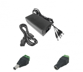 Epcom Fuente de Poder para Cámara CCTV K2-PS12DC4C, Entrada 240V, Salida 15V, 5A — Incluye Conectores JR-53/52