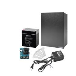 Epcom Kit Fuente de Poder para Videovigilancia RT1640AL6PL4, Entrada 40V, Salida 24V — Incluye Batería, Gabinete, Transformador y Soportes