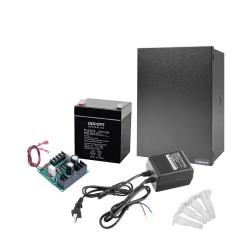 Epcom Fuente de Poder para Cámara ELKP624, Entrada 16 - 24V, Salida 12V, 1A ― Incluye un Transformador RT1640LS, un Gabinete GOF-01-XT, una Batería PL4.512 y 4 Soportes ELKP624