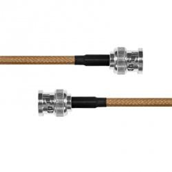 Epcom Cable Coaxial BNC Macho - BNC Macho, 60cm, Marrón