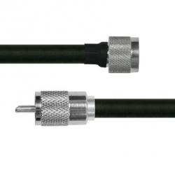 Epcom Cable Coaxial N Macho - UHF Macho, 1.8 Metros, Negro/Plata