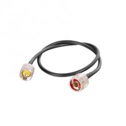 Epcom Cable Coaxial N Macho - UHF Macho, 60cm, Negro