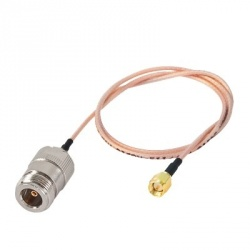Epcom Cable Coaxial N Macho - SMA Hembra, 60cm, Cobre