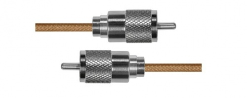 Epcom Cable Coaxial UHF Macho - UHF Macho, 1.1 Metros, Oro/Plata