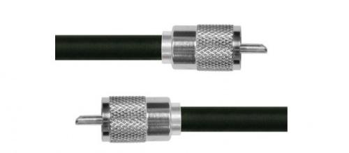 Epcom Cable Coaxial UHF Macho - UHF Macho, 1.8 Metros, Negro/Plata