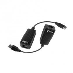 Epcom Kit Extensor de Video TT-USB-100 USB por Cable UTP5/5e/6, hasta 50 Metros, Negro