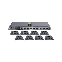 Epcom Kit de Extensores  HDMI 1 x 8 TT718PRO, Alámbrico, hasta 40 Metros, Negro
