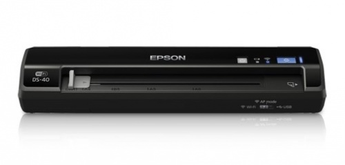 Scanner Epson WorkForce DS-40, 600 x 600 DPI, Escáner Color, USB+WiFi, Negro