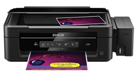 Multifuncional Epson L355 Color, Inyección, Tanque de Tinta (EcoTank), Inalámbrico, Print/Scan/Copy