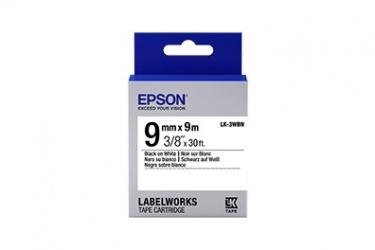 Cinta Epson LabelWorks LK-3WBN Negro sobre Blanco, 9mm x 9m
