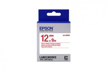 Cinta Epson LK-4WRN Rojo sobre Blanco, 12mm x 9m