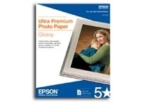 Epson Papel Fotográfico Glossy Ultra Premium, 8.5 x 11