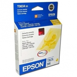 Cartucho Epson T063420 Amarillo, 250 Páginas