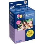 Epson Kit Cartucho y Papel T5846 4-Colores, 150 Páginas de 4x6''