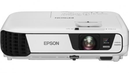 Proyector Epson PowerLite W32+ 3LCD, WXGA 1280 x 800, 3200 Lúmenes, Inalámbrico, con Bocinas, Blanco