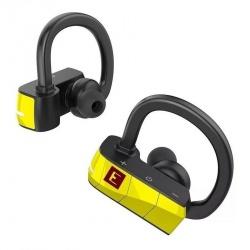 Erato Audífonos Intrauriculares con Micrófono Rio 3, Inalámbrico, Bluetooth, Negro/Amarillo