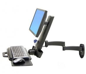 Ergotron Brazo Combo Serie 200 para Monitor 24'', max. 8.2KGs, Negro