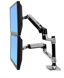 Ergotron Brazo de Mesa LX Doble para Monitor 24'', Plata