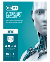 Eset Internet Security 2020, 10 Licencias, 1 Año, para Windows/Mac/Linux/Android