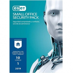 Eset Small Office Security Pack 2019, 10 Usuarios, 1 Año, Windows/Mac