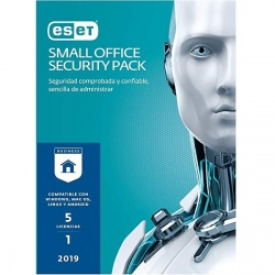 Eset Small Office Security Pack 2019, 5 Usuarios, 1 Año, Windows/Mac