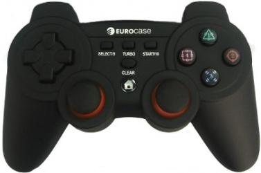 Eurocase Gamepad para PlayStation 3, Alámbrico, USB, Negro
