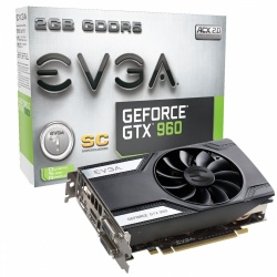 Tarjeta de Video EVGA NVIDIA GeForce GTX 960 SC, 2GB 128-bit GDDR5, PCI Express 3.0 x16