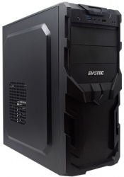 Gabinete Evotec EV-1005, Mini-Tower, ATX/Micro ATX/Mini-ATX, USB, incluye Fuente de 600W, Negro