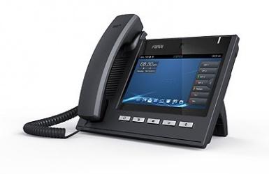 Fanvil Teléfono IP con Pantalla 7'' C600, 6 Lineas, Videoconferencia HD720, Negro