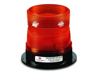 Federal Signal Luz Estroboscópica PULSATOR 551 PLUS, Alámbrico, 12-48VCD, Rojo