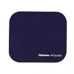 Mousepad Fellowes Microban Navy, 20.32x 22.86cm, Grosor 4mm, Azul