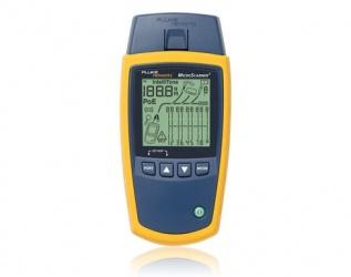 Fluke Probador de Cables MicroScanner2, UTP/FTP/SSTP/Coaxial, Amarillo/Azul