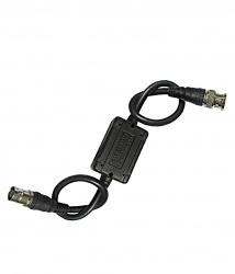 Folksafe Cable Coaxial Aislador de Ruido BNC Macho - BNC Hembra, 20cm, Negro