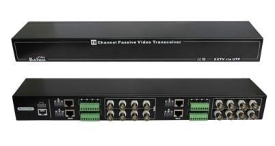 Folksafe Balun Tranceptor Pasivo de Video FS-HDP4616, 16 Canales, BNC