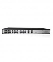 Switch Folksafe Fast Ethernet FS-S1024EP-2C, 24 Puertos 10/100Mbps, 2 Puertos Uplink, 2 Puertos SFP, 8000 Entradas - No Administrable