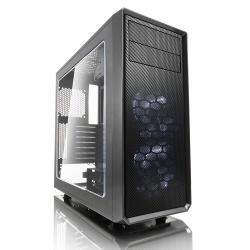 Gabinete Fractal Design Focus G con Ventana LED Blanco, Midi-Tower, ATX/ITX/Micro-ATX, sin Fuente, Negro/Gris