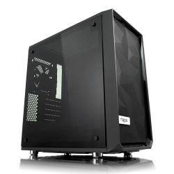 Gabinete Fractal Design Meshify C Mini – Dark TG con Ventana, Mini-Tower, ITX/Micro-ATX, sin Fuente, Negro