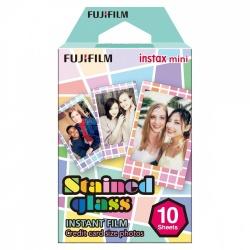 Fujifilm Papel Fotográfico Instax Mini Film Stained Glass, 54 x 86mm, 10 Hojas