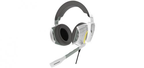 Gamdias Audífonos Gamer Hephaestus E1, Alámbrico, 1.8 Metros, USB+3.5mm, Blanco
