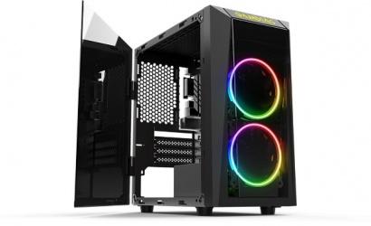 Gabinete Gamdias TALOS E1, Mini-Tower, Micro-ATX/Mini-ITX, USB 2.0/3.1, sin Fuente, Negro