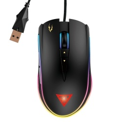 Mouse Gamer Gamdias Óptico Zeus P1, Alámbrico, USB, 12000DPI, Negro