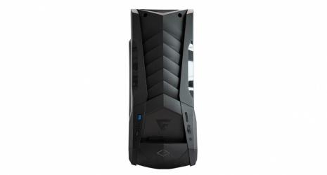 Gabinete Game Factor CSG600 con Ventana LED Azul, ATX/Micro-ATX/Mini-ATX, USB 2.0, sin Fuente, Negro