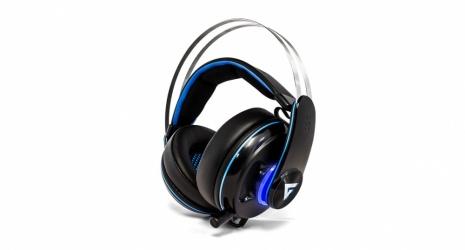 Game Factor Audífonos Gamer HSG600, Alámbrico, 3 Metros, 3.5 mm, Negro/Azul