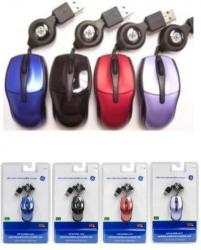 Mini Mouse General Electric Óptico V Colores 98, Alámbrico, USB, Rojo