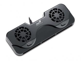 Genius Base Enfriadora NB Stand 100 para Laptop, con 2 Ventiladores de 2200RPM, Negro