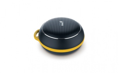 Genius Bocina Portátil SP-906BT Plus R2, Bluetooth, Inalámbrico, 3W RMS, USB, Negro/Amarillo