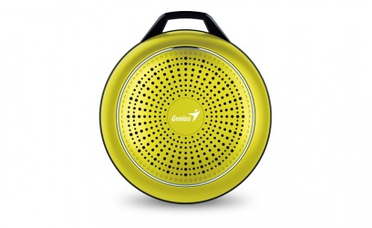 Genius Bocina Portátil SP-906BT Plus R2, Bluetooth, Inalámbrico, 3W RMS, USB, Dorado