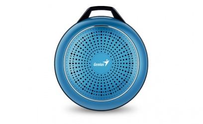 Genius Bocina Portátil SP-906BT Plus R2, Bluetooth, Inalámbrico, 3W RMS, USB, Azul Metálico